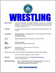SCPAL Wrestling Flyer