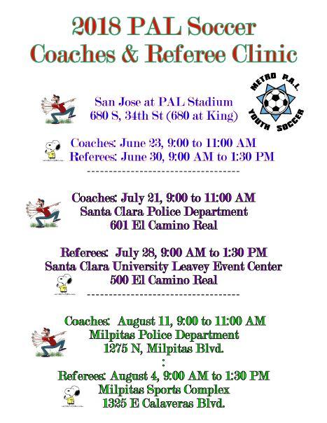 Coaches and Referees – Santa Clara Police Activities League